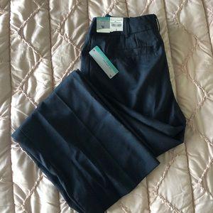 Navy herringbone dress pants